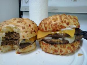 The BFF`s BF`s cheese burgers!!